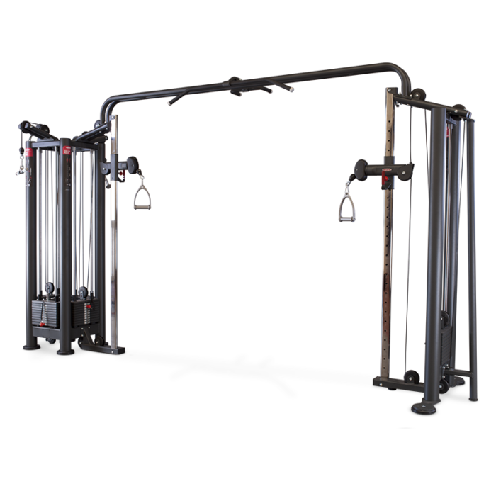 4-STATION MULTI GYM + ADJUSTABLE CABLE STATION WITH BAR