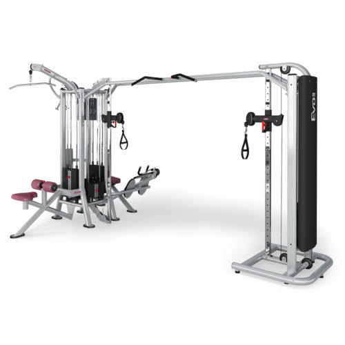 JUNGLE MACHINE HLP + ADJUSTABLE CABLE STATION WITH BAR